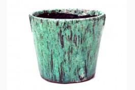 Blomkruka keramik Ø14,5 cm, grön