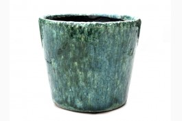 Blomkruka keramik Ø14,5 cm, blå-grön