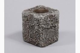 """Ljuslykta """"väderbiten"""" betong 8,5 cm"""