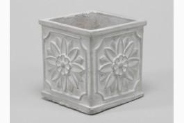 Blomkruka med dekor 10,5 cm, betong