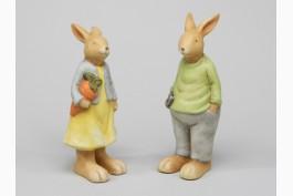 Kanin i terrakotta 20 cm, 2 st/set