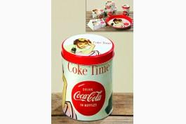 Burk med lock Coca-Cola