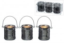 Ljuslyktor med hänkel, 3 st/set
