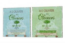 Vägghängare oliv, 2 st/set