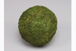 Dekorationsboll grön mossa Ø 10 cm