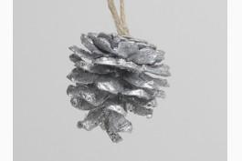 Hängdekoration kotte silver, 12 st/set