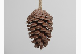 Hängdekoration stor kotte natur, 15 cm