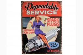 Plåttavla Spark plugs