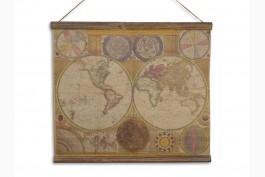 Tavla världskarta 60x53 cm