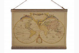 Tavla världskarta 60x43 cm