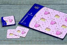 Coasters med cupcakemotiv, 4 st/set