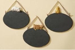 Skrivbara plattor med djurdekor, 3 st/st
