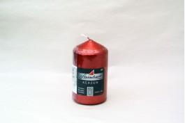 Blockljus Ädelglans rubin 10 cm