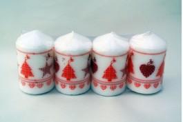 Blockljus jul röd Ø4,7 H7,5