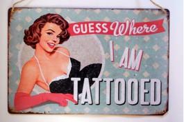 Plåttavla Tattooed