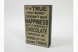 Trätavla chocolate