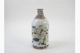 Keramikvas med blomstermotiv
