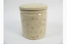 Keramikburk med lock (20,5 cm)