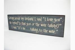 Trätavla, husband-wine