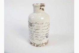 Keramikvas med brev (14,5 cm)