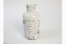 Keramikvas med brev (20,5 cm)