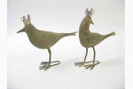 Fåglar med krona, 2 st/set (18,5 cm)