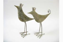 Fåglar med krona, 2 st/set (28 cm)