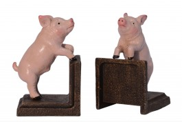 Bokstöd grisar, 1 par