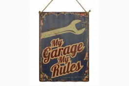 Tavla korrugerad plåt, My Garage