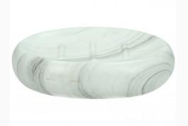 Tvålkopp marmorerad keramik, oval