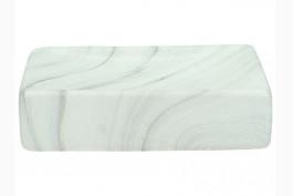 Tvålkopp marmorerad keramik, rektangulär