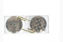 Väggkrok keramik guld 15 cm, 2 st/set