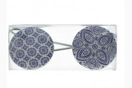 Väggkrok keramik blå 18,5 cm, 2 st/set