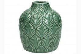 Keramikvas grön botanik 13,5 cm