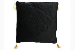 Kudde Quilt svart/guld 50x50 cm