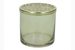 Gallervas rökfärgad/mässing Ø 10,5 cm H 10 cm