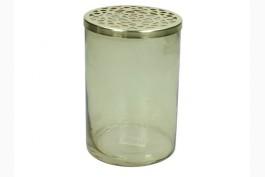 Gallervas rökfärgad/mässing Ø 10,5 cm H 15 cm